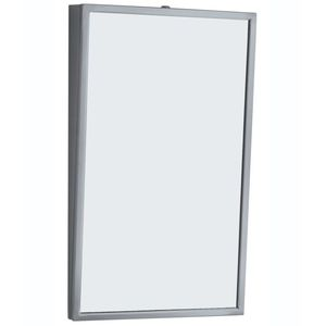 """Bobrick B2931836 18"""" x 36"""" Fixed Position Tilted Mirror NA Finish"""