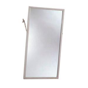 "Bobrick B2941830 18"" x 30"" Angle Frame Two Position Tilt Mirror NA Finish"