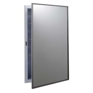 """Bobrick B397 Recessed Medicine Cabinet with 15-1/2"""" x 25-7/8"""" Door Satin Stainless Steel Finish"""