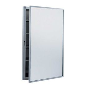 """Bobrick B398 Recessed Medicine Cabinet with 17"""" x 26-7/8"""" Satin Stainless Steel Finish"""