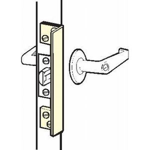 "Don Jo ALP-210-DU 10"" Angled Latch Protector for Outswing Doors Dark Bronze Finish"