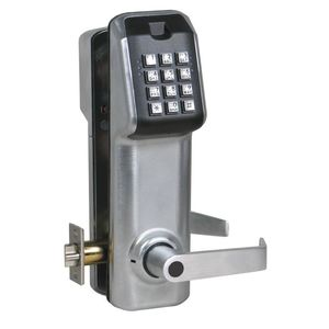 IEI Linear LS1C26DAMICB Stand Alone Keypad Access Control Lever Lock with Best IC Prep Satin Chrome Finish