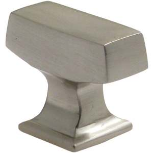"Rusticware 999SN 1-3/8"" Modern Rectangular Cabinet Knob Satin Nickel Finish"