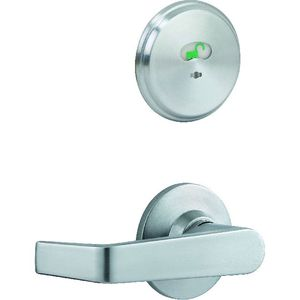 """Stanley Commercial Hardware QCI285E626 Interconnected Indicator Lock with 2-3/4"""" Backset and ASA Strike Satin Chrome Finish"""