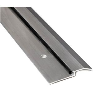 "National Guard Products 8135N36 36"" Neoprene Bumper Seal Threshold Clear Anodized Aluminum Finish"