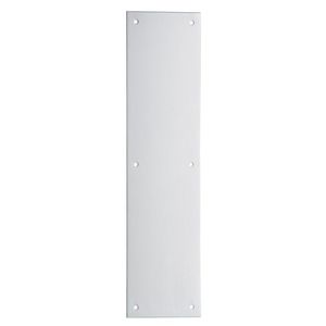"""Ives Residential 820032D312 Stainless Steel 3"""" x 12"""" Push Plate Satin Stainless Steel Finish"""