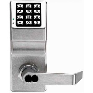 Alarm Lock DL2700IC26DY Trilogy Electronic Digital Lever Lock with Interchangeable Core for Yale Prep Satin Chrome Finish