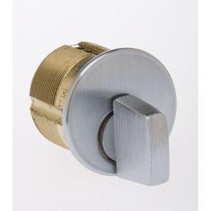 "Kaba Ilco 7181TK2-26D 7181 Turn Knob Mortise Cylinder, 1-1/8"", Satin Chrome"