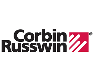 "Corbin Russwin 1000118A01619 1-1/8"" Conventional 6 Pin Mortise Cylinder with Cloverleaf Cam Satin Nickel Finish"
