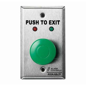 Push buttons to exit