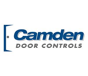 Camden CM-30E Illuminated Square Push Button, 12V/24V Incandescent, Green PUSH TO EXIT